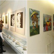 Klaipėdiečiams – priminimas apie dailės mokyklą: darbus eksponuoja ir miesto erdvėse