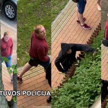 Po Palangoje išdaužto lango – policijos prašymas: gal atpažįstate šiuos asmenis?
