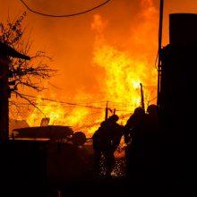 Karmėlavoje – didžiulis gaisras: liepsnas gesina sustiprintos ugniagesių pajėgos