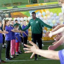 Ypatingų poreikių vaikams – futbolo profesionalų dėmesys
