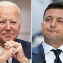 Ukrainos lyderis prašys J. Bideno paramos konfrontacijoje su Rusija