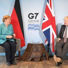 Paaiškėjo, kada JK premjeras B. Johnsonas priims Vokietijos kanclerę