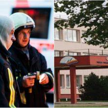 Į Gargždų gimnaziją skubėjo ugniagesiai: kabinete kilo gaisras