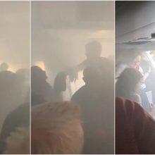 Siaubo filmą primenantis skrydis iš Londono: lėktuve – dūmų kamuoliai <span style=color:red;>(vaizdo įrašas)</span>