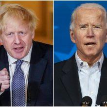 B. Johsonas tikisi su J. Bidenu susitarti dėl klimato ir prekybos