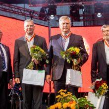 Šventės kulminacija prie Kauno pilies: šiemet apdovanotųjų už nuopelnus Kaunui – rekordiškai daug