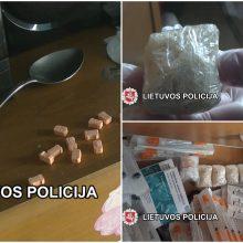 Klaipėdoje rastų narkotinių medžiagų vertė nelegalioje rinkoje gali viršyti 18 tūkst. eurų