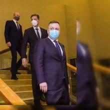 A. Guoga apie pasitraukimą iš Seimo: Darbo partijos žmonės tapo vieno asmens įkaitais