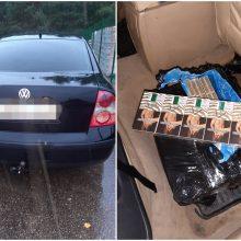 Marijampoliečio automobilyje aptikta kontrabandinių cigarečių