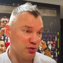 """Š. Jasikevičius: tikiuosi, kad """"Žalgiris"""" nešventė geriau už mus, nes atrodė prasčiau"""