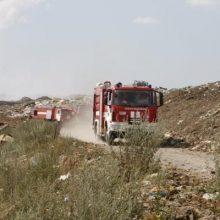 Nepavojingų atliekų sąvartyne Plungės rajone – gaisras, situaciją stebi aplinkosaugininkai