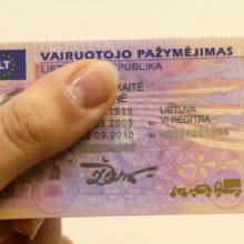 """""""Regitra"""": vis daugiau vairuotojo pažymėjimų užsakoma internetu"""