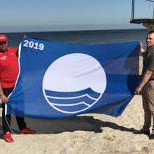 Palangos Birutės parko paplūdimyje plevėsuoja Mėlynoji vėliava