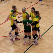 Pasistiprinusios Baltijos tinklinio čempionės siekia grįžti pergalių kelią