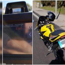 """""""Kelių erelis"""" pribloškė pareigūnus: motociklininkas lėkė 222 km/val. greičiu"""