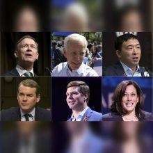 Demokratų kandidatai į JAV prezidentus susirungs pirmuosiuose debatuose
