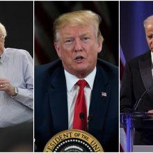 D. Trumpas savo pagrindiniais konkurentais rinkimuose laiko B. Sandersą ir J. Bideną
