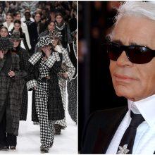 """""""Chanel"""" mados namai tylos minute atsisveikino su K. Lagerfeldu"""