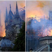 Tyrėjai nustatė, kas galėjo sukelti gaisrą Paryžiaus Dievo Motinos katedroje