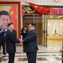 Šiaurės Korėjos lyderis vėl lankėsi Kinijoje ir susitiko su prezidentu