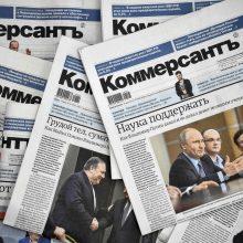 Populiaraus Rusijos verslo dienraščio žurnalistai neteko darbo dėl straipsnio