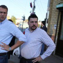 Sulaikytas Rusijos opozicijos lyderio A. Navalno bendražygis