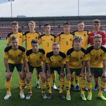 Septyniolikmečiai Lietuvos futbolininkai palaužė Farerų salas