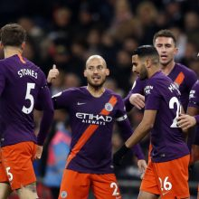 """""""Manchester City"""" karaliauja Anglijoje – greitu įvarčiu palaužė """"Tottenham"""""""