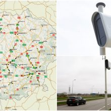 Paskelbė, kur įrengs dar 100 vidutinio greičio matuoklių: tikslių vietų žemėlapis