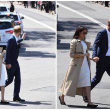 Australijoje viešinti princo Harry žmona Meghan avėjo batelius iš perdirbto plastiko
