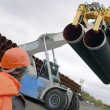 """Rusija: rimtų kliūčių nutiesti """"Nord Stream 2"""" nėra"""