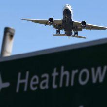 Hitrou oro uostas dėl klimato kaitos protestų susiduria su trikdžiais
