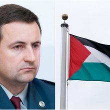 Pasieniečių vadas lankosi Palestinoje: šalies pareigūnus mokys saugoti sieną