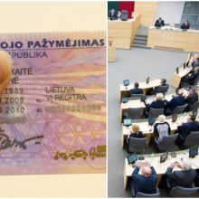 Seimas neapsisprendė dėl vairuotojo pažymėjimo tapatybei nustatyti