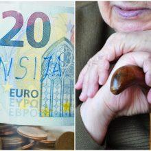 40 tūkst. senjorų – kiek didesnės pensijos