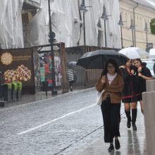 Artėjančią savaitę – lietingi, vėjuoti ir vėsūs orai