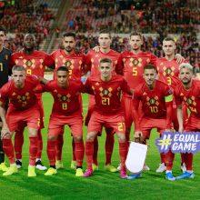 Belgijos futbolininkai užsitikrino vietą Europos čempionate