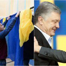 Ukrainiečiai Lietuvoje balsavo už V. Zelenskio ir P. Porošenkos partijas