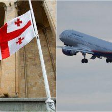 Rusija nutraukė oro susisiekimą su Sakartvelu