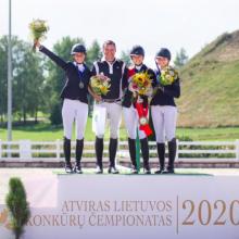 Lietuvos konkūrų čempionatas: pagrindinėje rungtyje – daugkartinio čempiono triumfas