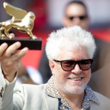 Režisierius P. Almodovaras Venecijos kino festivalyje apdovanotas už gyvenimo kūrybą