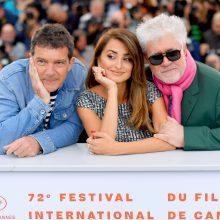 """Kanų kino festivalyje pristatytas naujasis P. Almodóvar filmas """"Skausmas ir šlovė"""""""