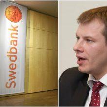 """V. Šapoka: informacijos, kad """"Swedbank"""" galėtų palikti Baltijos šalis, nėra"""