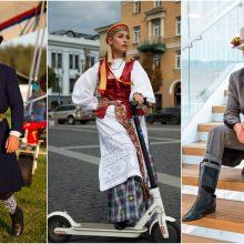 Lietuvoje plinta nauja mada: žinomi žmonės puošiasi tautiniais drabužiais