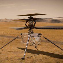 """NASA: dronas """"Ingenuity"""" atliko trečiąjį skrydį, nuskrido 50 metrų"""