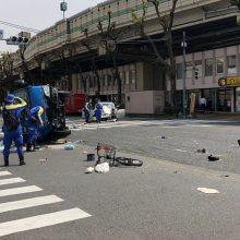 Tokijuje automobiliui įsirėžus į žmones žuvo dvi dviratininkės