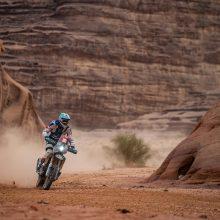 """Priešpaskutinė Dakaro diena: """"vienišių"""" klasėje A. Gelažninkas finišavo pirmas"""
