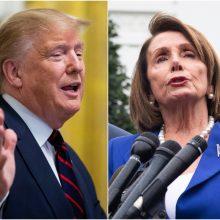 """D. Trumpas Atstovų Rūmų pirmininkę pavadino """"trečiarūše politike"""""""