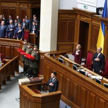 Paleista Ukrainos Rada tęs darbą, kol bus prisaikdintas naujas parlamentas