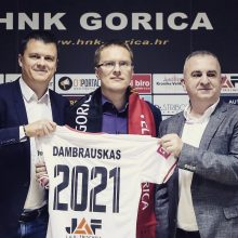 """Oficialu: V. Dambrauskas pristatytas naujuoju """"Gorica"""" klubo treneriu"""